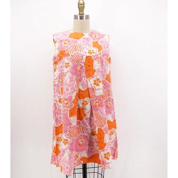 Vintage Dresses & Skirts - Vintage Women's Hawaiian Swing Dress A-line Mini